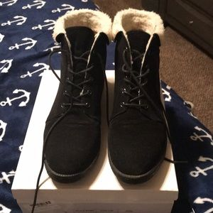 Becky Faux shearling cuff boots